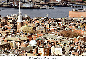 North End Boston - Boston North End with the prominent ...