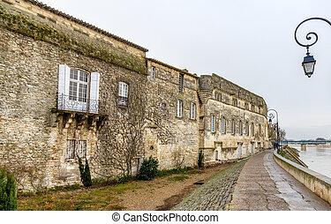 North facade of Reattu Museum in Arles, France