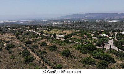Finger of the Galilee near Kiryat Shmona Over Kibbutz Gonen