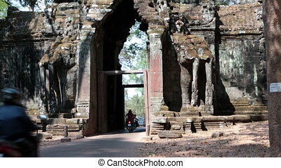 north gate Angkor Thom, Siem Reap, Cambodia - north gate...
