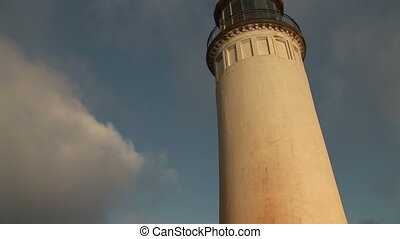 North Head Lighthouse on Long Beach Peninsula in Washington,...