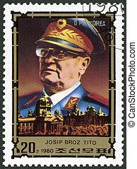 NORTH KOREA - CIRCA 1980: A stamp printed in DPR Korea shows...