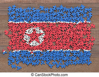 North Korea Flag Puzzle