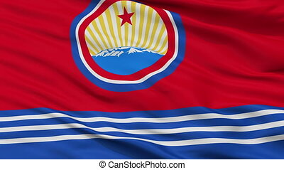 North Korea Naval Ensign Flag Closeup Seamless Loop - Naval...