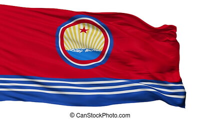 North Korea Naval Ensign Flag Isolated Seamless Loop - Naval...