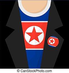 North Korea T-Shirt Vector Illustration