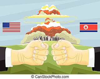 North Korea vs America, Nuclear explosion
