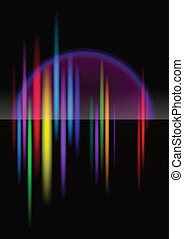 North-light abstract bright colorful background