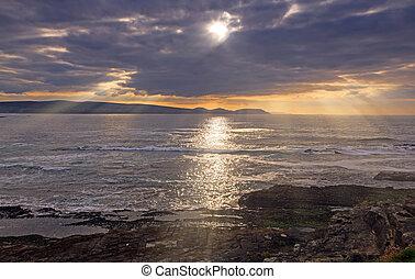 Sunset at Emlagh Beach, Louisburgh, Co. Mayo