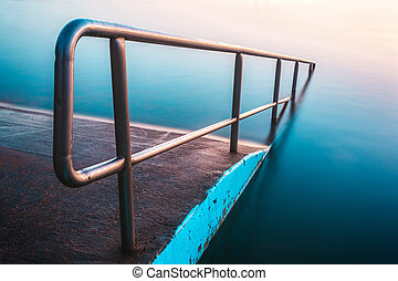 North Narrabeen rock pool abstract