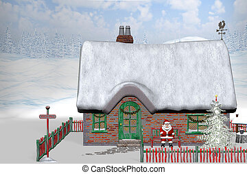 North Pole 1 - Santa Claus make a pause