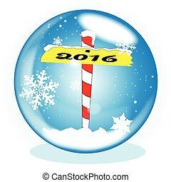 North Pole 2016 Winter Globe