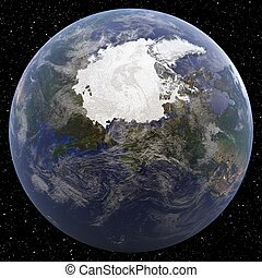North Pole - Earth from Space