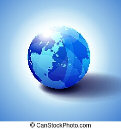 North Pole, Europe Top of the World Global World - Globe ...