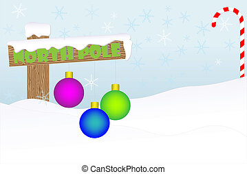 North Pole holiday background