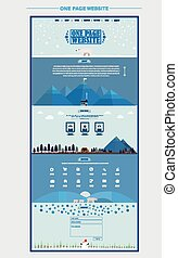 north pole scene one page website design template in flat...