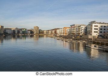 North river side in Gothenburg