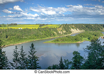 North Saskatchewan River bank