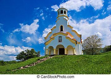 north-west, église, vieux, bulgarie