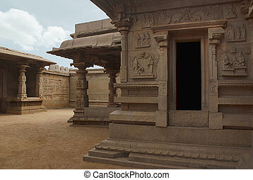 North west view of the Hazara Rama Temple. Royal Center or ...