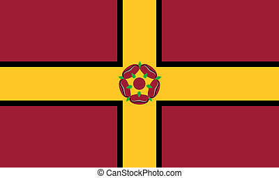 Northamptonshire county flag england united kingdom symbol