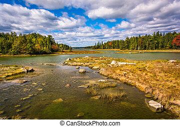 Northeast Creek, on Mount Desert Island in Bar Harbor, Maine...