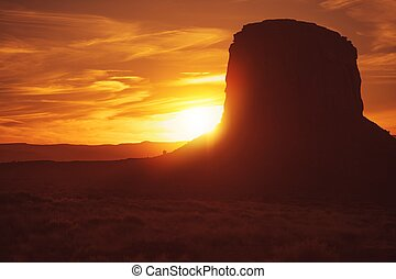 norther, arizona, desierto, ocaso