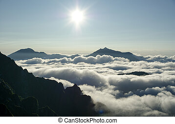 Northern Alps' sea of clouds and sun
