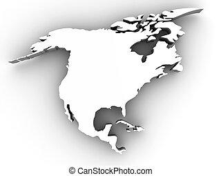 Northern America. 3d