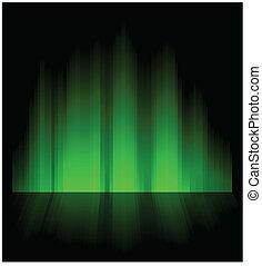Northern aurora. - Northern aurora with reflection. Composed...