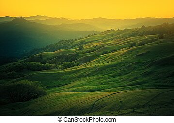 Northern California Landscape. Scenic Vista East From Eureka...