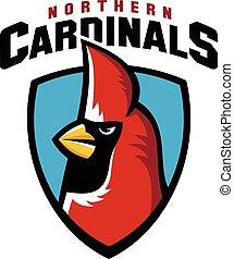 Northern cardinal sport logo mascot