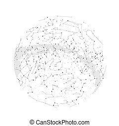 Northern hemisphere constellations, star map. Science...