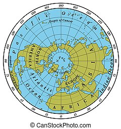 Northern Hemisphere detailed illustration
