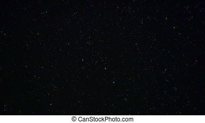Northern Hemisphere starry sky, time lapse