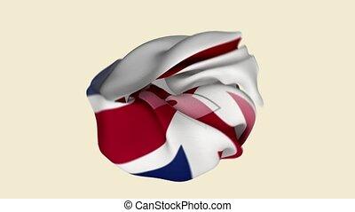 Northern Ireland Flag. UK Flag. Europe Flags. Celebration. Flag Day. Patriots. Realistic Animation 4K. Surface Texture. Background Fabric.
