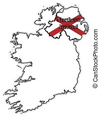 Northern Ireland Flag In Map