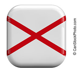 Northern Ireland flag isolated icon.