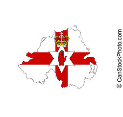 northern ireland flag map