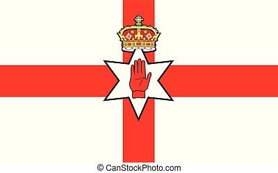 The flag of the United Kingdom country of Northern Ireland