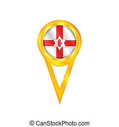 Northern Ireland pin flag