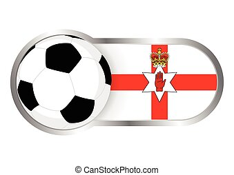 Modern icon for soccer team with Northern Ireland insignia