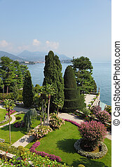 Northern Italy, Lake Maggiore. High resolution image of a ...