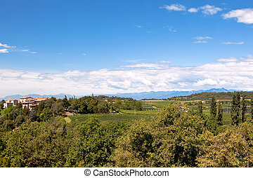 Northern Italy Landscape - View of Northern Italy at hot ...