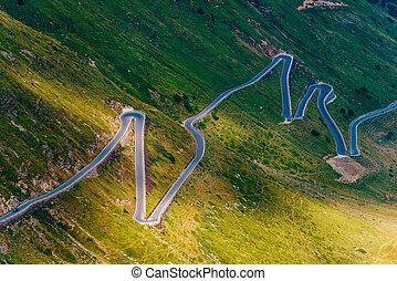 Northern Italy Stelvio Pass Winding Road. Italian Scenic ...