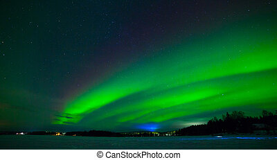 Northern lights - Intense northern lights - Aurora borealis...