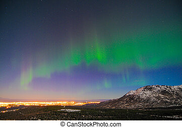 Northern Lights - Northern lights over Anchorage, Alaska ...