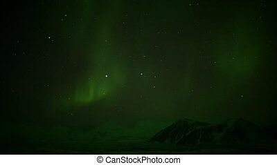 Northern Lights on the starry sky