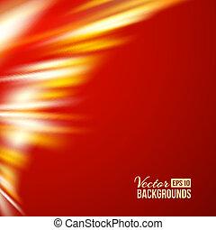 Northern Lights over orange. - Northern Lights over Red....