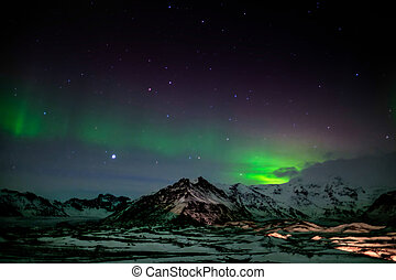 Northern Lights Southern Iceland